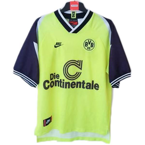 Borussia dortmund home retro jersey maillot match men's 1st soccer sportwear football shirt 1995-1996