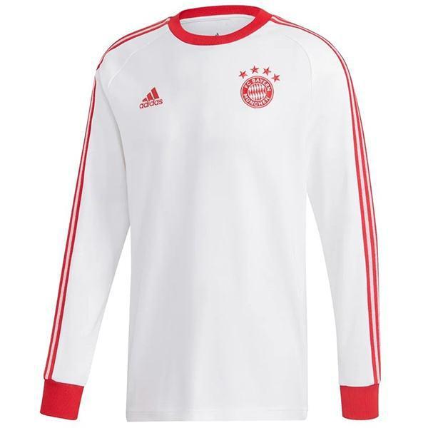 Bayern munich maglia da calcio a maniche lunghe vintage retro bayern monaco partita seconda maglia da calcio sportiva da uomo bianca