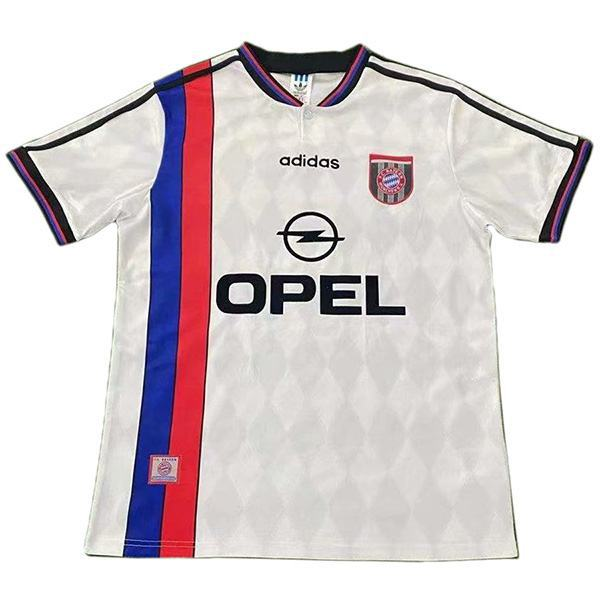 Bayern munich maglia da calcio vintage retrò da trasferta del bayern monaco partita seconda camicia bianca da calcio sportiva da uomo 1995-1996