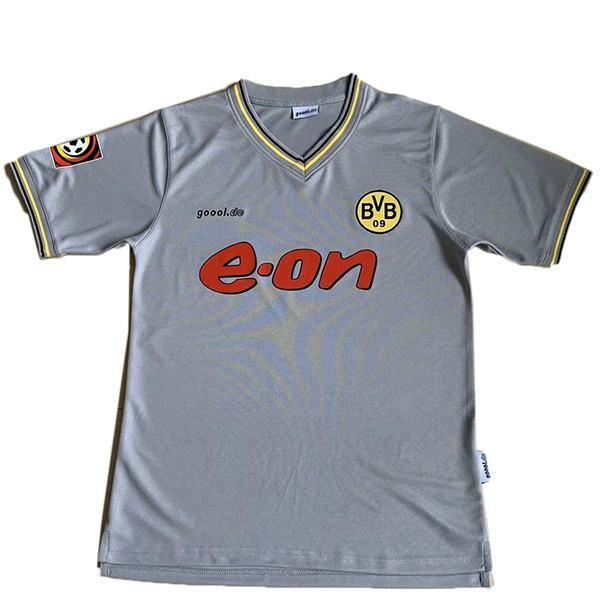 Borussia Dortmund away retro soccer jersey maillot match men's 2ed sportwear football shirt 2000