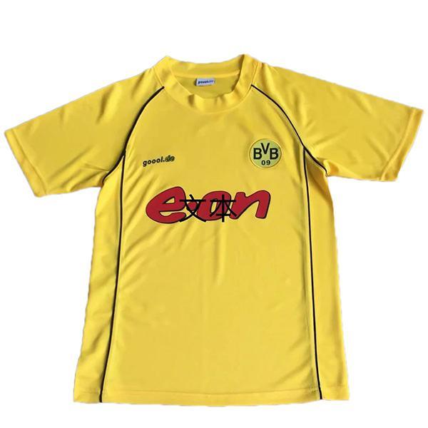 Borussia Dortmund home retro soccer jersey maillot match men's 1st sportwear football shirt 2002
