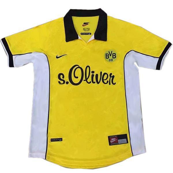 Borussia Dortmund home maglia da calcio vintage retrò del abbigliamento sportivo maglietta da uomo prima maglia sportiva da calcio 1998