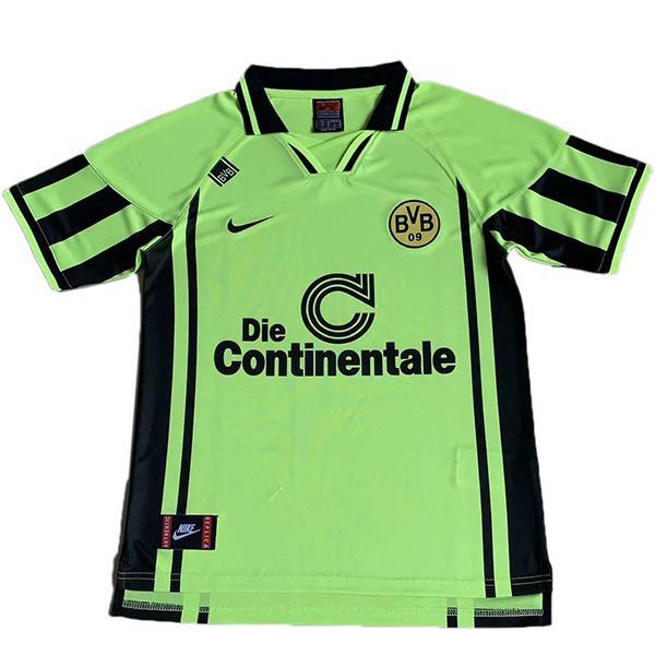 Borussia Dortmund retro soccer jersey maillot match men's sportwear football shirt green 1996