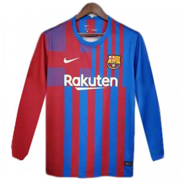 Barcellona maglia casalinga del maglia da calcio sportiva da calcio a manica lunga 2021-2022