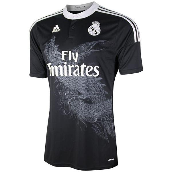 Real Madrid away retro soccer jersey maillot match dragon men's 2ed sportwear football shirt 2014-2015