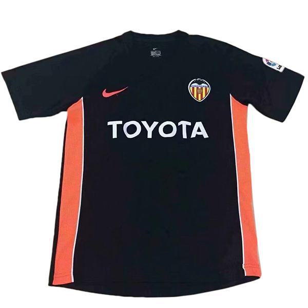 Valencia Maglia da calcio vintage retrò da trasferta del seconda maglia da calcio sportiva da uomo 2006-2007