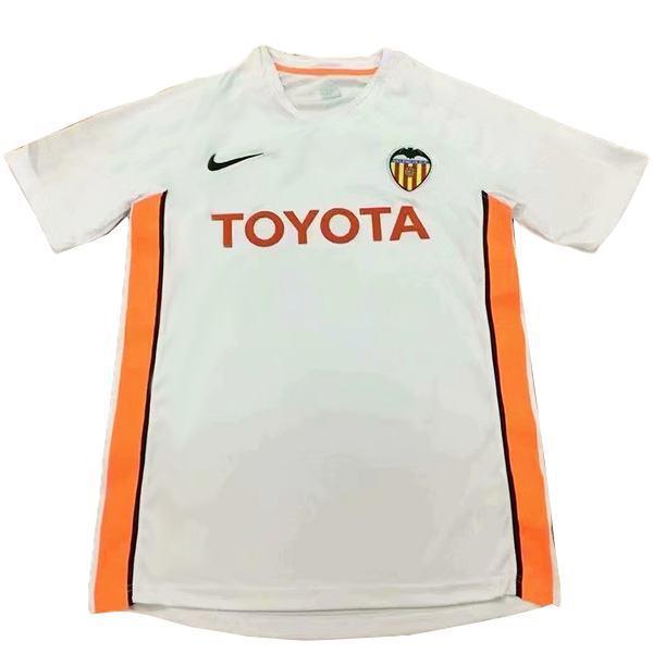 Valencia maglia da calcio vintage retrò casa del match prima maglia da calcio sportiva da uomo 2006-2007