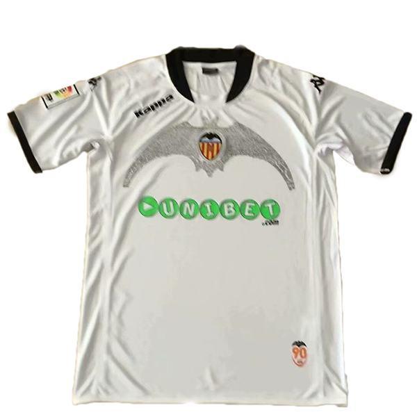Valencia maglia da calcio vintage retrò casa del abbinare la prima maglia da calcio sportiva da uomo 2009-2010