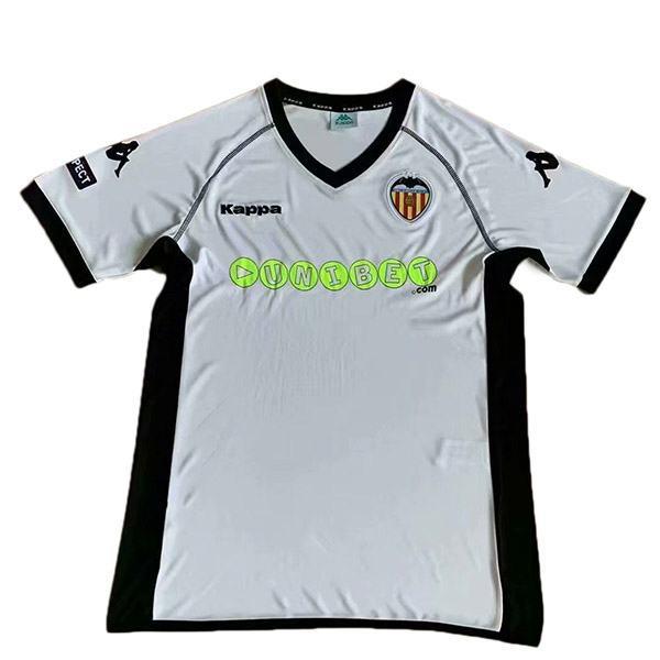 Valencia maglia da calcio vintage retrò casa del partita prima maglia da calcio sportiva da uomo 2011-2012
