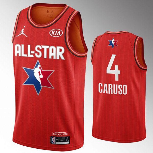 2020 all star game jordan los angeles lakers alex caruso 4 nba basketball swingman jersey red edition shirt