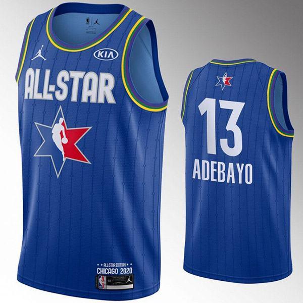 2020 all star game jordan miami heat bam adebayo 13 nba basketball swingman jersey blue edition shirt
