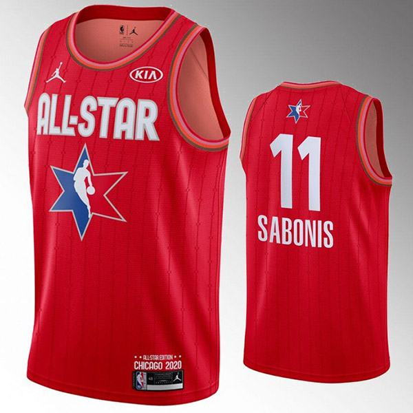 2020 all star game jordan portland trail blazers arvydas sabonis 11 nba basketball swingman jersey red edition shirt