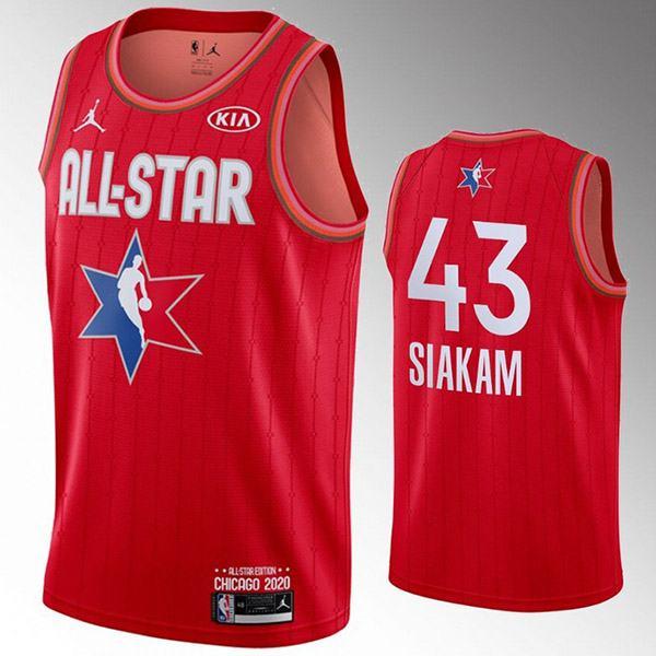 2020 all star game jordan toronto raptors pascal siakam 43 nba basketball swingman jersey red edition shirt