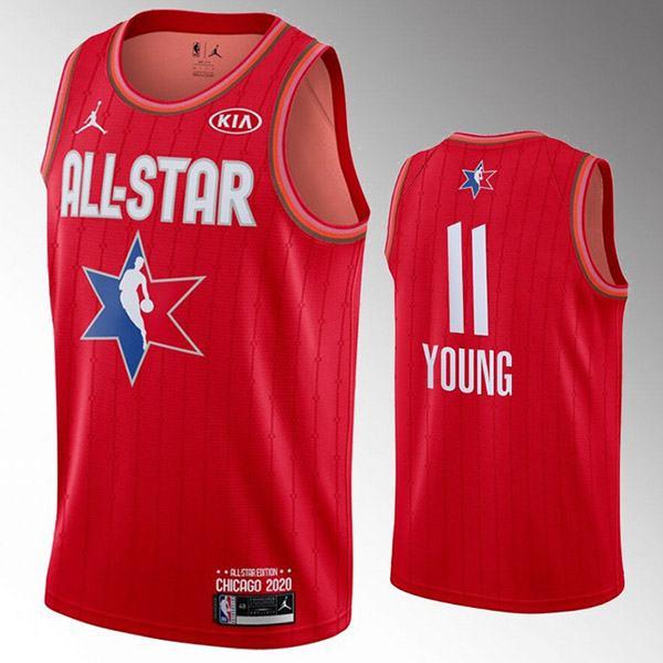 2020 all star game jordan young 11 nba basketball swingman jersey red edition shirt