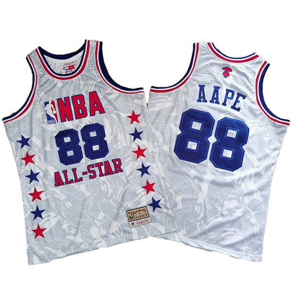 AAPE X Mitchell & NESS all star retro basketball jersey edition swingman vest 1988