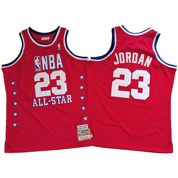 All star bulls 23 Michael Jordan mitchell x ness basketball jersey swingman vest red 1989
