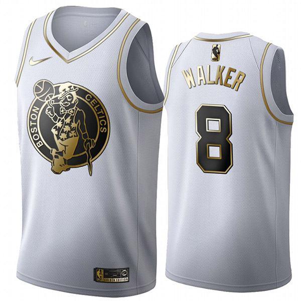 All Star Game Boston Celtics 8 Antoine Walker White Golden Basketball Edition Jersey 2020