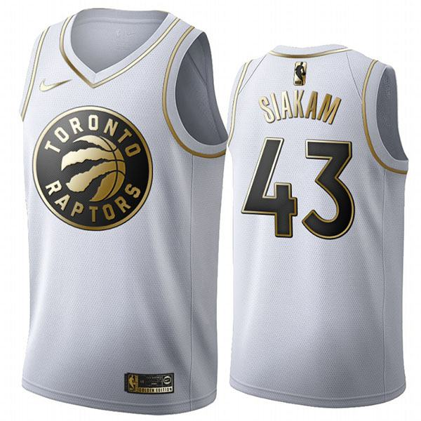 All Star Game Toronto Raptors 43 Pascal Siakam White Gold Basketball Edition Limited Jersey 2020