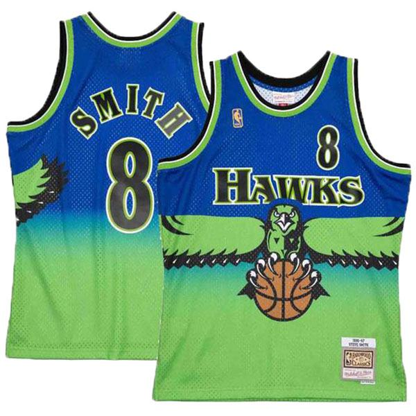 Atlanta Hawks 8 Steve Smith road swingman retro jersey basketball shirt Nba swingman vest 1996-1997