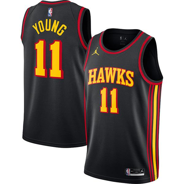 Atlanta Hawks Trae Young 11 NBA Jersey men's edition swingman jersey Nba vest black 2021