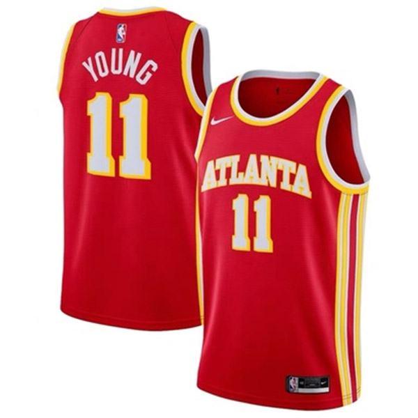 Atlanta Hawks Trae Young 11 NBA Jersey men's edition swingman jersey Nba vest red 2021
