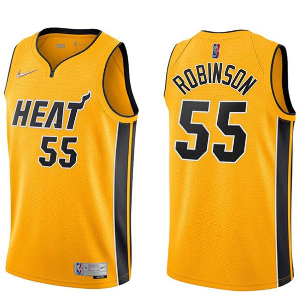 Miami Heat Duncan Robinson 55 wine swingman jersey men's basketball edition limited vest yellow 2021