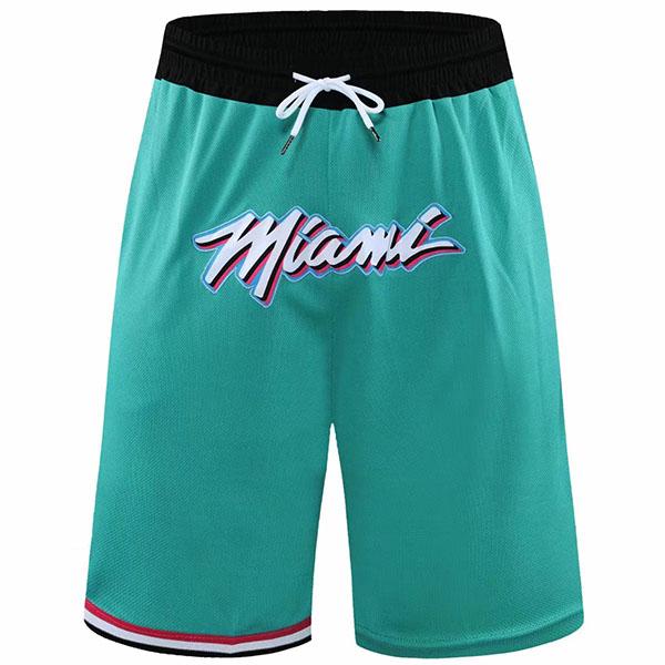Miami Heat Edition Jersey Men's Earned Swingman Basketball Shorts Mint 2021