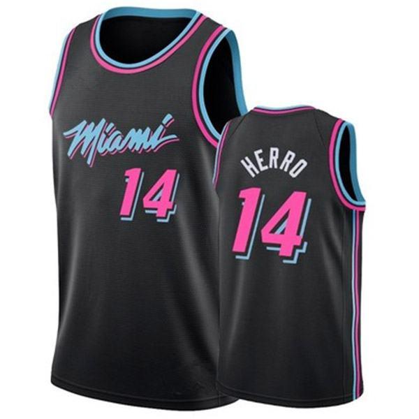 Miami Heat Herrd 14 basketball swingman jersey black pink award limited edition shirt