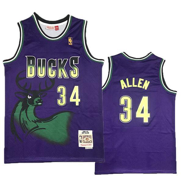 Milwaukee Bucks 34 Giannis Antetokounmpo nba basketball swingman city jersey The Alphabet purple edition shirt 1996-1997