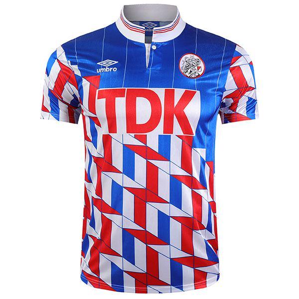 Ajax away retro soccer jersey maillot match men's second sportwear football shirt 1990-1991