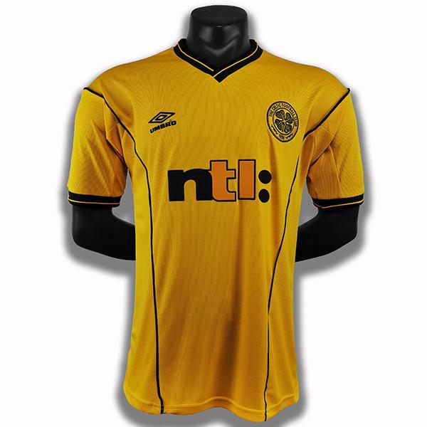 Celtic away retro soccer jersey maillot match men's second sportwear football shirt 2000-2002