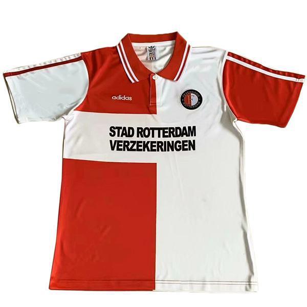 Feyenoord Maglia da calcio vintage da casa partita prima maglia da calcio sportiva da uomo 1995