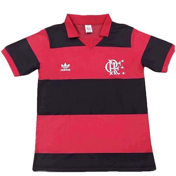 Flamengo home retro vintage soccer jersey match prima maglia da calcio sportiva da uomo 1982