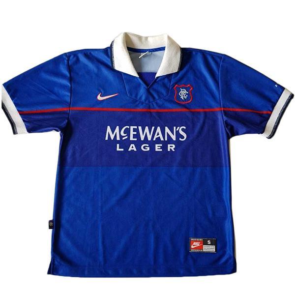 Rangers home retro soccer jersey maillot match dragon men's 1st sportwear football shirt 1997-1999