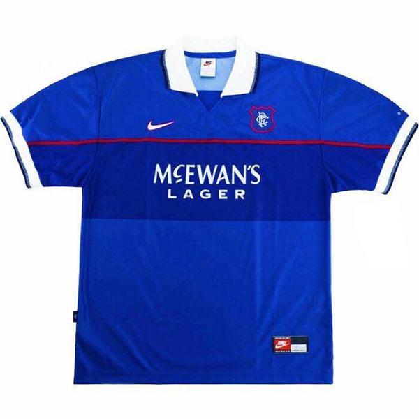 Rangers home retro soccer jersey maillot match men's 1st sportwear football shirt 1997-1998
