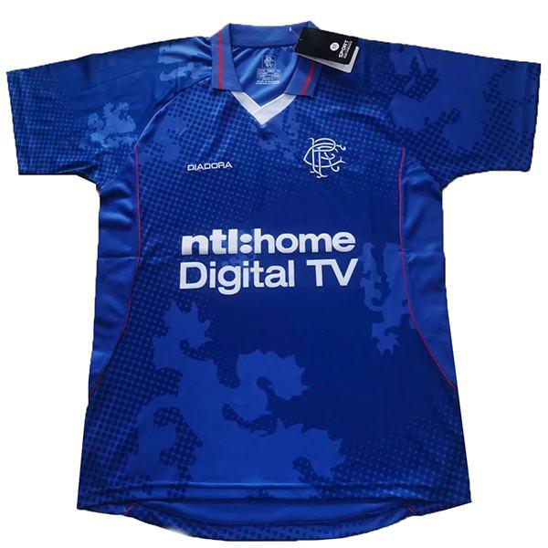 Rangers home maglia da calcio retrò maillot match prima maglia da calcio sportiva da uomo blu 2002-2003