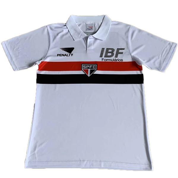Sao paulo home retro soccer jersey maillot match first men's sportwear football shirt 1991-1992