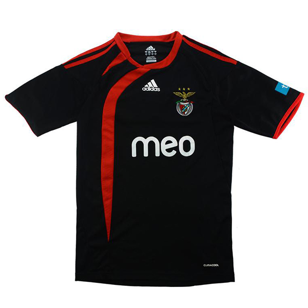 Benfica maglia da trasferta maglia da calcio retrò da uomo, seconda maglia sportiva da calcio, maglia sportiva 2009-2010