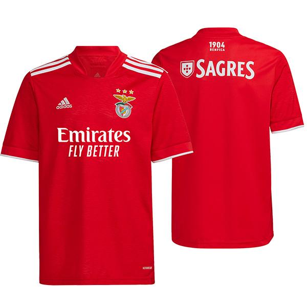 Benfica maglia da casa prima maglia da calcio abbigliamento sportivo da uomo maglia sportiva 2021-2022
