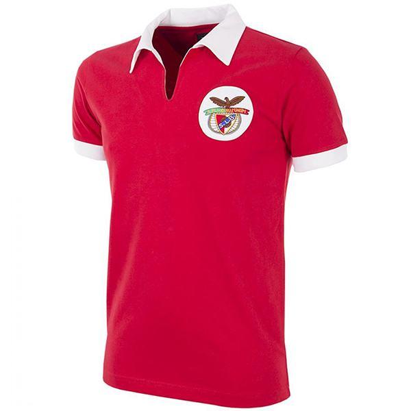 Benfica maglia vintage casalinga del prima maglia sportiva da uomo di abbigliamento sportivo da calcio 1961