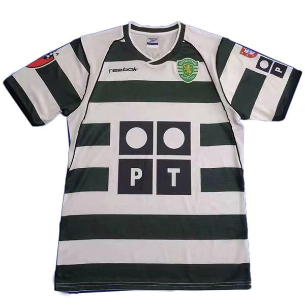Sporting Lisbona Maglia da calcio retrò da casa Maglia da calcio sportiva da uomo prima maglia sportiva da uomo 2001-2003