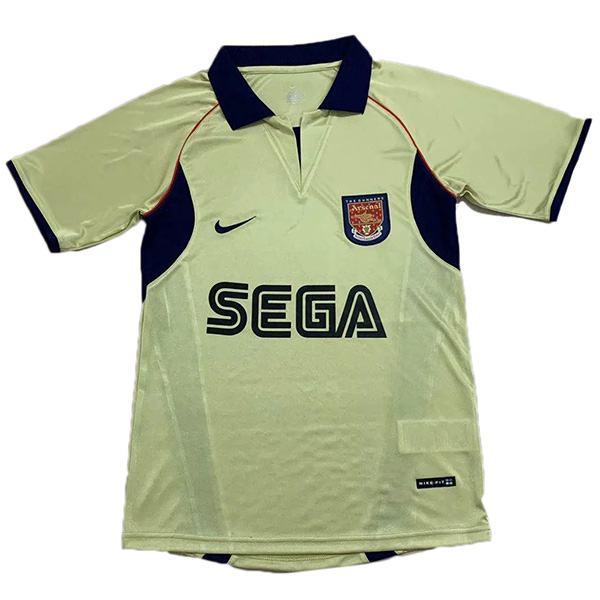 Arsenal away retro soccer jersey maillot match men's 2ed sportwear football shirt 2002