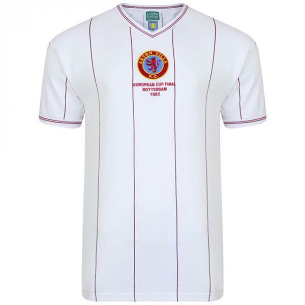 Aston Villa Maglia vintage retrò dell'da trasferta finale di Coppa dei Campioni che commemora la seconda maglia da calcio sportiva da uomo del 1982
