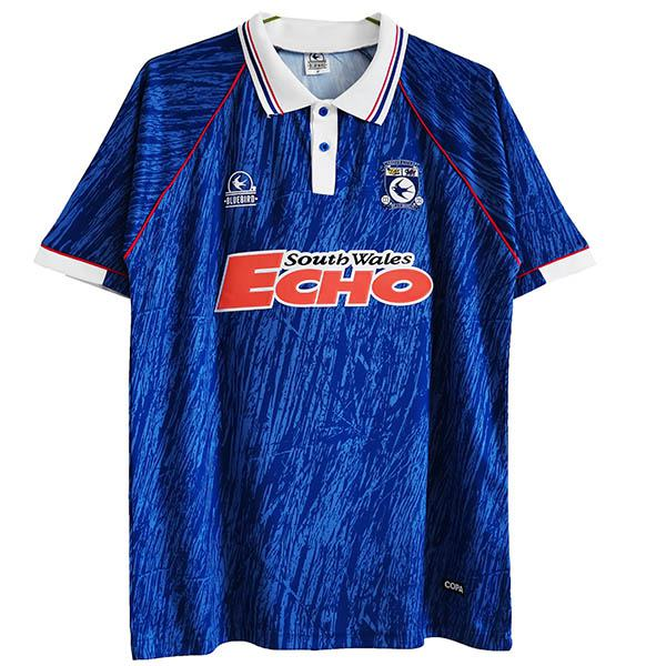 Cardiff City home retro jersey vintage soccer match prima maglia da calcio sportswear da uomo 1990