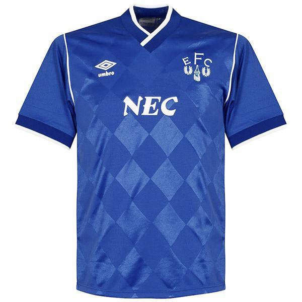 Everton home vintage retro jersey maglia da calcio partita prima maglia da calcio sportiva da uomo 1986-1987