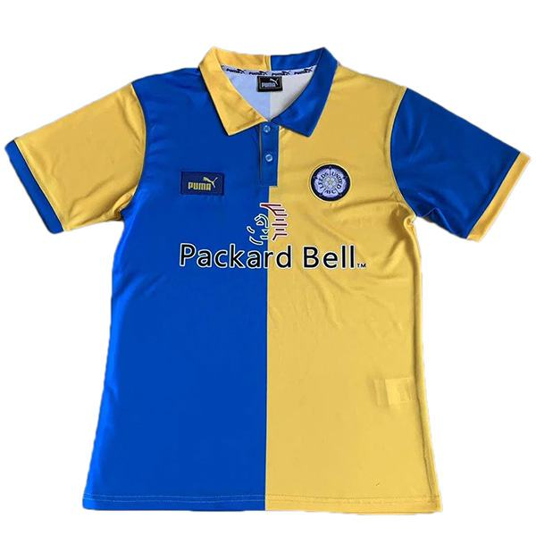 Leeds united away retro soccer jersey maillot match men's 2ed sportwear football shirt 1998