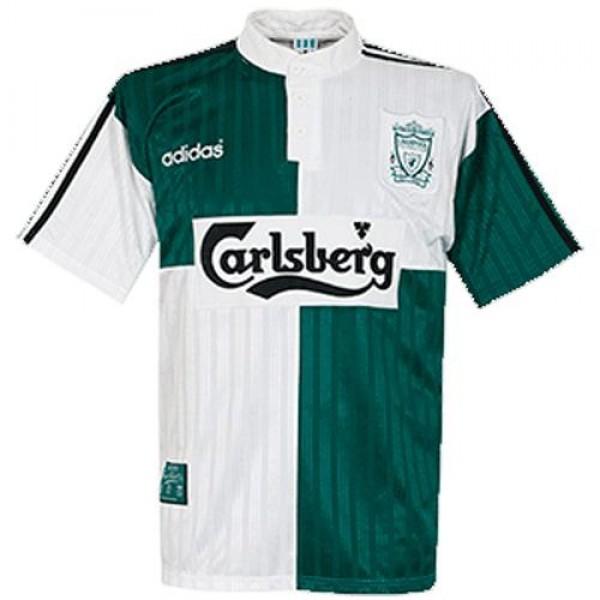 Liverpool away retro soccer jersey maillot match men's 2ed sportwear football shirt 1995-1996