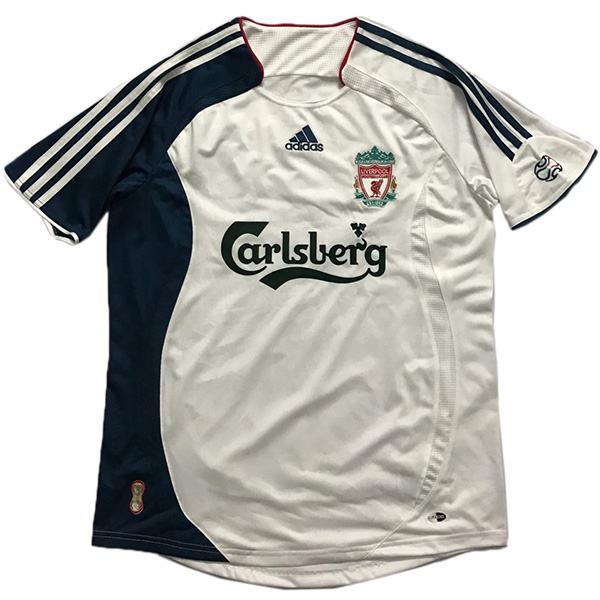 Liverpool away retro soccer jersey maillot match men's 2ed sportwear football shirt 2006-2007