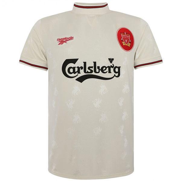 Liverpool away retro soccer jersey maillot match men's 2ed sportwear football shirt blue 1996-1997