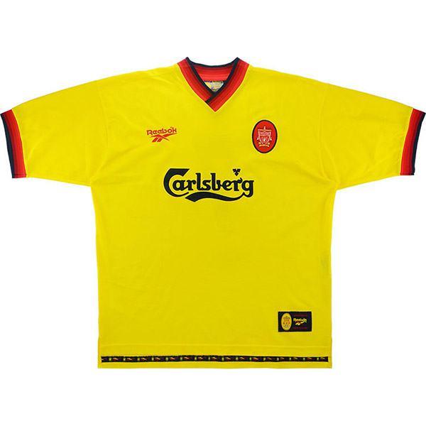 Liverpool away retro soccer jersey maillot match men's second sportwear football shirt 1997-1998